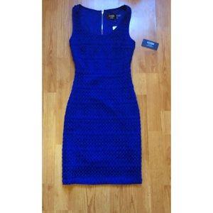 Blue midi strapless Guess dress